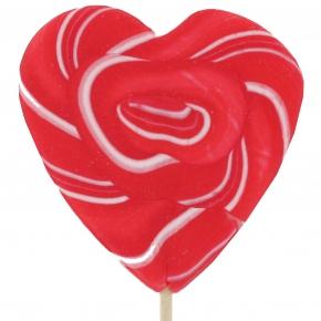 Sweetz Herz-Lolly rot/weiß