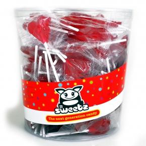 Sweetz Herz Lolly Rot 150er Dose