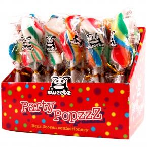Sweetz Party Popzzz Stripy Pops 24er