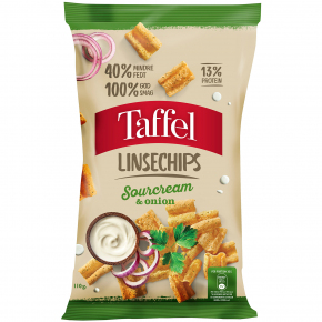 Taffel Linsechips Sourcream & Onion 110g