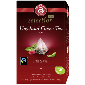 Teekanne selection Highland Green Tea 20er