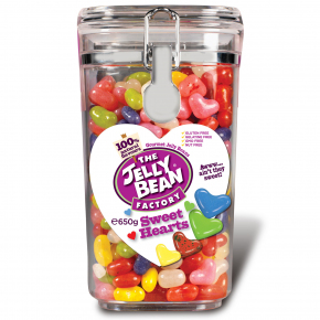 The Jelly Bean Factory Sweet Hearts Jar 650g