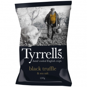 Tyrrell's black truffle & sea salt 150g