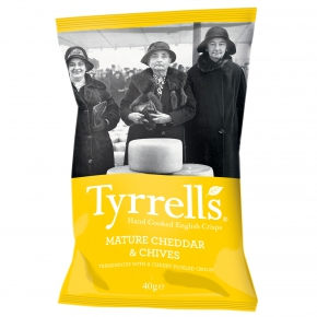 Tyrrells Cheddar Cheese & Chive 40g