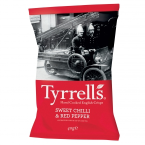 Tyrrells sweet chilli & red pepper 40g