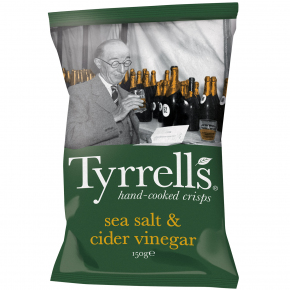 Tyrrells sea salt & cider vinegar 150g