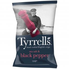 Tyrrells sea salt & black pepper 150g