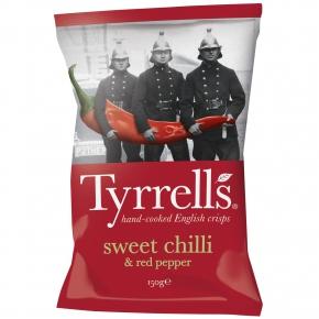 Tyrrells sweet chilli & red pepper 150g