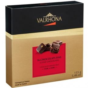 Valrhona 16 Feine Pralinen Dunkle Schokolade