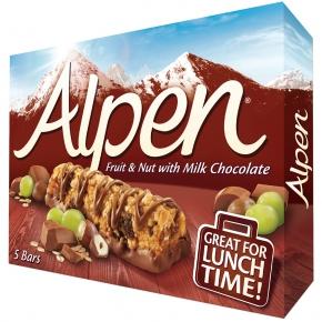Alpen Riegel Fruit & Nut with Milk Chocolate 5er