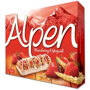 Alpen Riegel Strawberry & Yogurt 5er