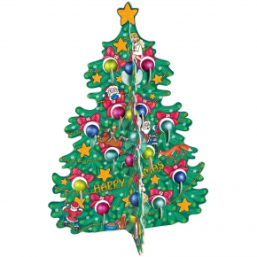 Windel 3D Adventskalender Weihnachtsbaum