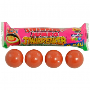 ZED Candy Jumbo Jawbreaker Strawberry 4 Ball