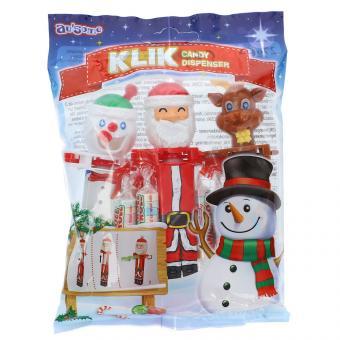 au'some Christmas Klik Candy Dispenser 3er