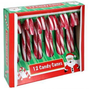 Becky's Candy Canes Christmas Box Zuckerstangen 12cm rot-weiß 12er