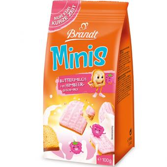 Brandt Minis Buttermilch-Himbeer 100g