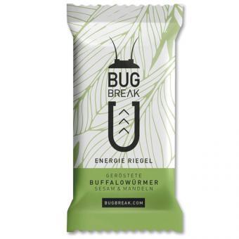 Bug-Break Energie Riegel Buffalowürmer Sesam & Mandeln 36g