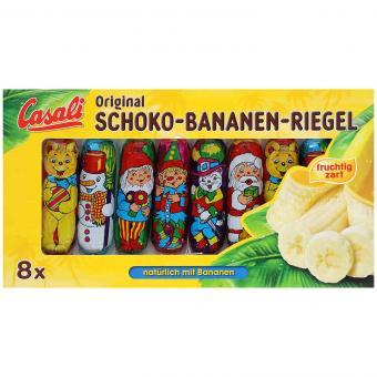Casali Schoko-Bananen-Riegel Christbaumbehang 8er