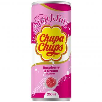 Chupa Chups Sparkling Raspberry & Cream 250ml