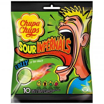 Chupa Chups Sour Infernals Lolly 10er