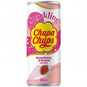 Chupa Chups Sparkling Strawberry & Cream 250ml