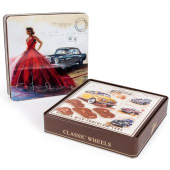 Classic Wheels Belgian Chocolate Milk Pralinen 200g Metalldose