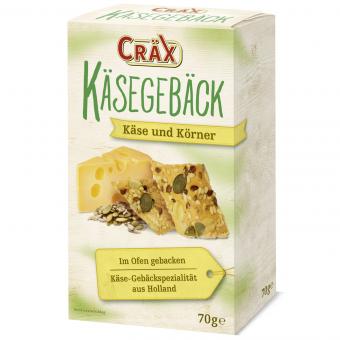 Cräx Käsegebäck Käse und Körner 90g