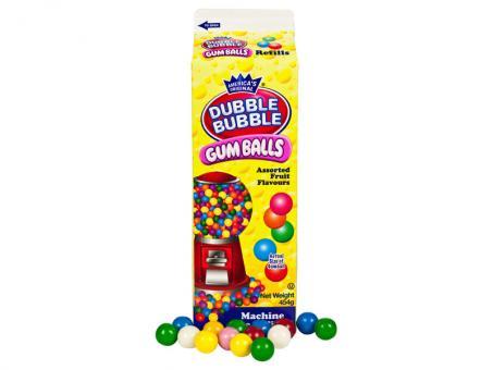 Dubble Bubble Gum Balls Refills 454g