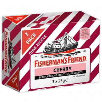 Fisherman's Friend Cherry ohne Zucker 3x25g