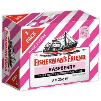 Fisherman's Friend Raspberry ohne Zucker 3x25g