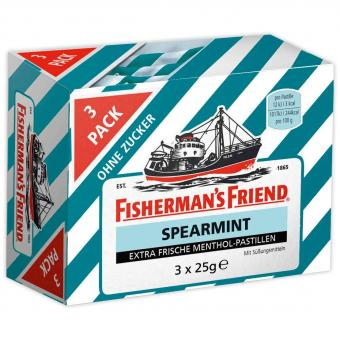 Fisherman's Friend Spearmint ohne Zucker 3x25g