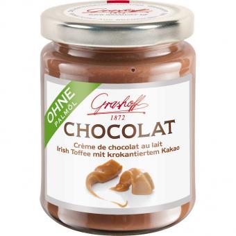 Grashoff Chocolat Crème de chocolat au lait Irish Toffe mit krokantiertem Kakao 250g