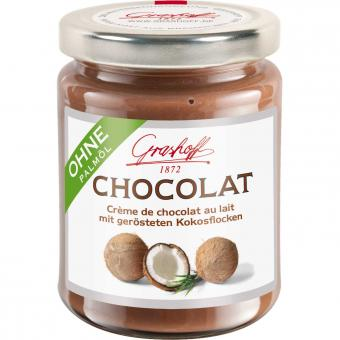 Grashoff Chocolat Crème de chocolat au lait mit Kokosflocken 235g