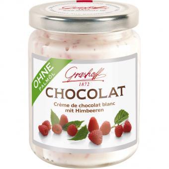 Grashoff Chocolat Crème de chocolat blanc mit Himbeeren 250g
