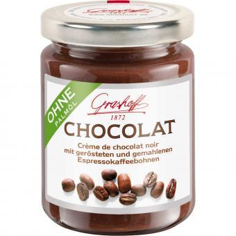 Grashoff Chocolat Crème de chocolat noir mit Espressokaffeebohnen 250g