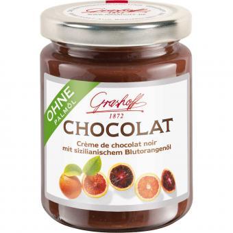 Grashoff Chocolat Crème de chocolat noir mit sizilianischem Blutorangenöl 250g