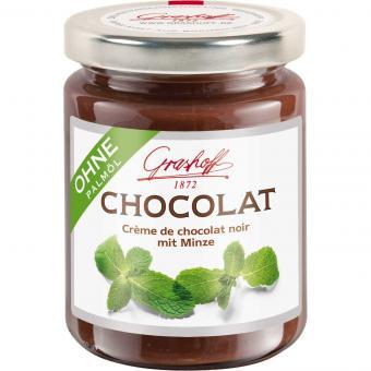Grashoff Chocolat Crème de chocolat noir mit Minze 250g