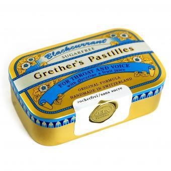Grether's Pastilles Blackcurrant sugarfree 110g
