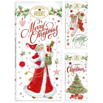 """Heidel """"Weiße Weihnacht"""" Choco-Grüße 100g"""