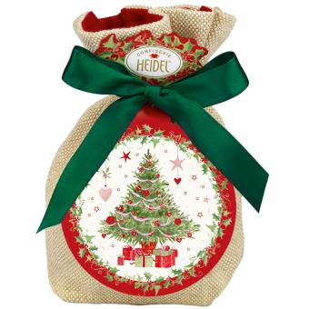 """Heidel """"Weiße Weihnacht"""" Geschenk-Säckchen 151g"""