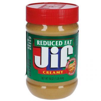 Jif Creamy Peanut Butter Reduced Fat 454g