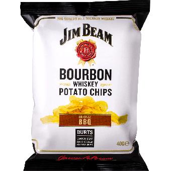 Jim Beam Bourbon Whiskey Potato Chips BBQ 40g