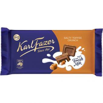 Karl Fazer Salty Toffee Crunch Chocolate 145g