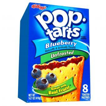 Kellogg's Pop-Tarts Blueberry Unfrosted 8er
