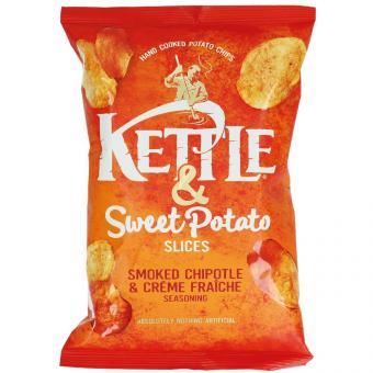 Kettle & Sweet Potato Slices Smoked Chipotle & Crème Fraîche 100g