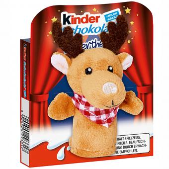 kinder Schokolade Fingerpuppe Elch 50g