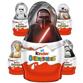 kinder Schokolade kleine Hohlfigur mit Überraschung Star Wars 36g