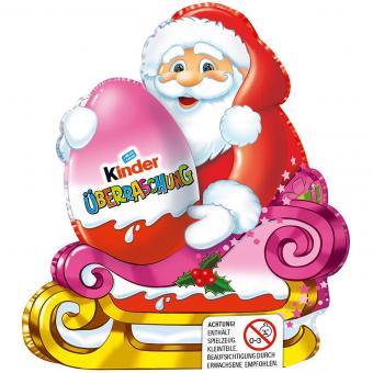 kinder Schokolade Weihnachtsmann mit Überraschung Rosa 75g