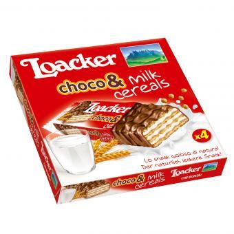 Loacker choco & milk cereals 4x25g