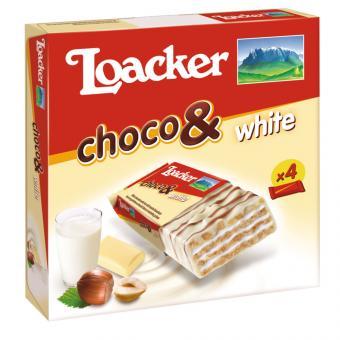 Loacker choco & white 4x26g